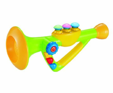 10 Musical Toy Trumpet Instrument for Kids with Music and Lights, Model: , Toys & Play