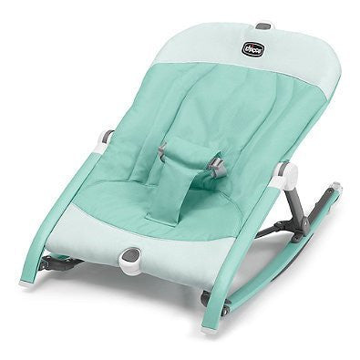 3 Recline Positions Pocket Relax Baby Rocker in Teal | Ultra Compact and Portable