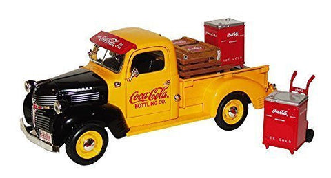 "1947 Coca-Cola ""Prestige Edition"" Bottling Company Dodge Pickup Truck with COKE Coolers, Crates & Hand Truck #27026 Bank in 1:24 Scale Diecast Metal by Coca-Cola"