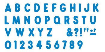 * BLUE READY LETTERS 7IN UPPERCASE