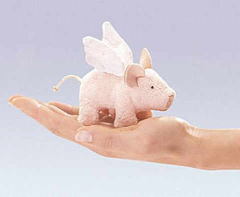 (Ship from USA) Mini WINGED PIGLET Finger Puppet # 2685 ~ FREE SHIP in USA ~ Folkmanis Puppets -ITEM#: G15/uiF982A24440