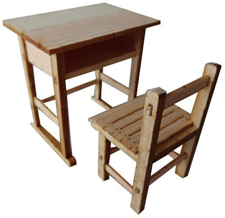 1/12 Showa school series wooden desk and chairs (two sets of input)