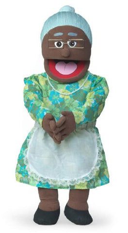 "30"" Granny, Black Grandmother, Professional Performance Puppet with Removable Legs, Full or Half Body"