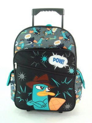16 Phineas and Ferb Arms Crossed Rolling Backpack-tote-bag-school by Phineas and Ferb