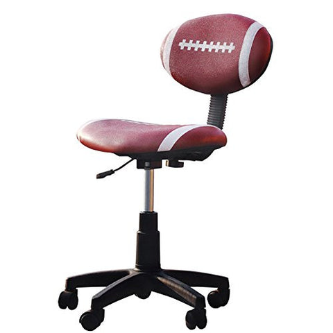 Maya Football Office Chair Adjustable Height 33 Inches High x 19 Inches Long x 19 Inches Wide With E-book Gift