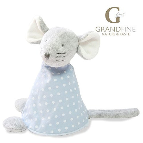 15cm 100% hand-made blue mouse baby doll,cotton linen Eco material ,plush toys for birthday party gift