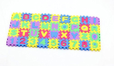 36 Pcs Mini Puzzle Educational Alphabet A-Z Letters Numeral 0-9 Foam Carpet Toy