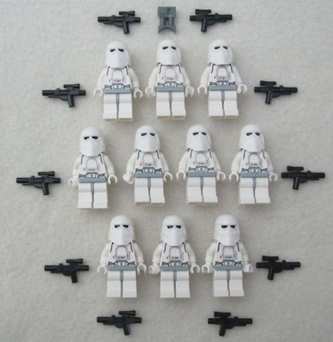 10 LEGO STAR WARS SNOWTROOPER MINIFIG LOT storm trooper figures clone snow toys(US Seller)