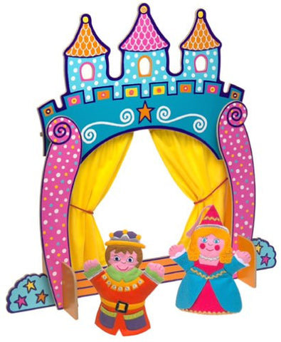 ALEX Toys Castle Tabletop Puppet Theatre with Prince and Princess