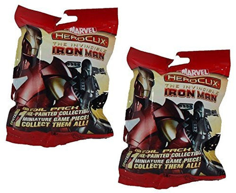 2 (Two) Pack of Marvel Heroclix - The Invincible Iron Man Single-figure Booster