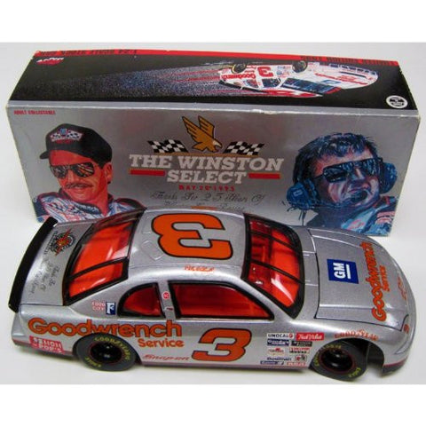 """Winston Select""-Silver Dale Earnhardt 25th Anniversary Limited Edition 1995 1:24 Scale Stock Car"