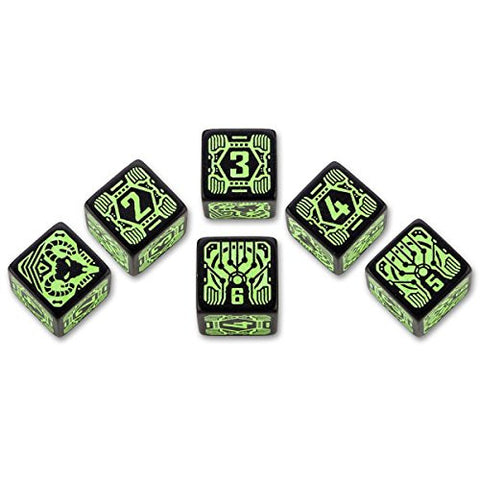 (Ship from USA) Q-Workshop: Shadowrun Dice Set Decker (6) /ITEM#H3NG UE-EW23D172785