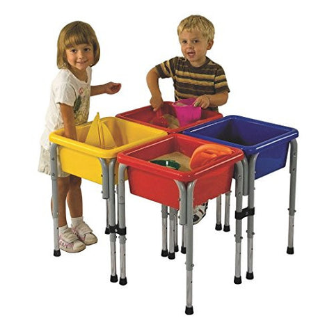 4 Station Square Sand & Water Table with Lids - SSW-FN3752