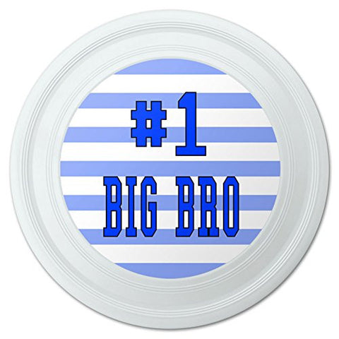 "#1 Big Bro Brother Number One Favorite Novelty 9"" Flying Disc"