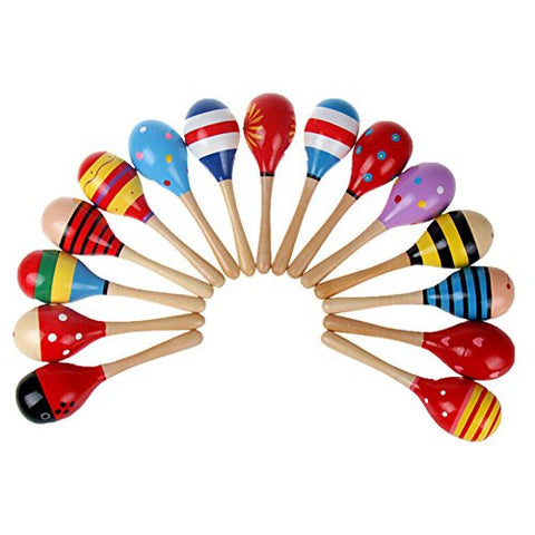 1pcs Baby Musical Wooden Rattle [Toy]