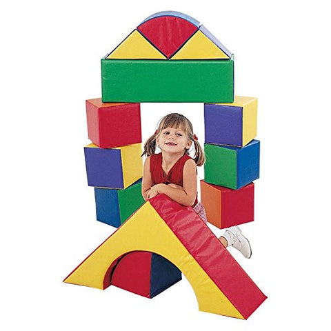 Children's Factory 9 in. Block Set - Set of 12