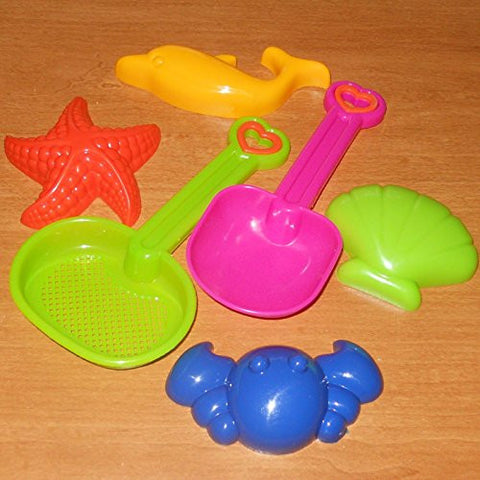 (USA Warehouse) 6 Pc TOY SAND BEACH FUN SET #6 MOLD SHOVEL SIFTER ANIMAL SHAPES New FREE USA S&H **ITEM#NO: 43E8E-UFE6 C2A10383