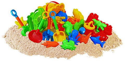 23pc Kids Beach Toys Set, Sandbox Toys; Sand Toys