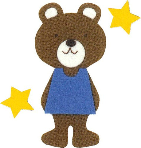 """Make with their children"" three felt felt applique KK-2 bear (japan import)"