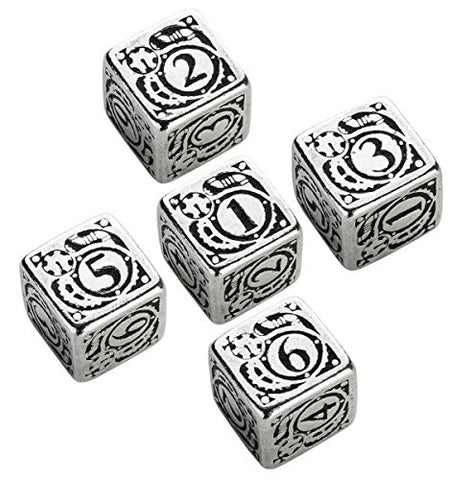 (Ship from USA) Q-Workshop: Steampunk Metal Dice Set D6 (5) /ITEM#H3NG UE-EW23D169567