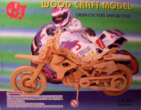 """ABC Products"" - Wooden 3-D ~ Assembling Kit (Cross-Country Motorcycle - Helps Kids Develop Coordination and Problem-Solving Skills)"