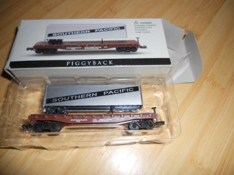 """N"" Scale Die Cast Train Cars Readers Digest Limited Edition Southern Pacific Railroad Cars ~Piggyback"