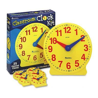 Brand New Learning Resources Classroom Clock Kit Learning Clock For Grades Pre-K-4