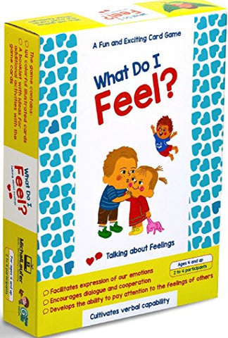 """What do I Feel?"" By Michal Laufer. A Unique 44-Piece Educational Toy - Cards Game that Helps Stimulate Conversation with Your Children to Talk about Their Feelings & Emotion"