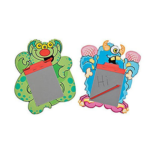 "12 ~ Silly Monster Magic Pads / Slates - Approx. 5x7"" with Mini 2.5""x3"" Writing Pad - New - Halloween"