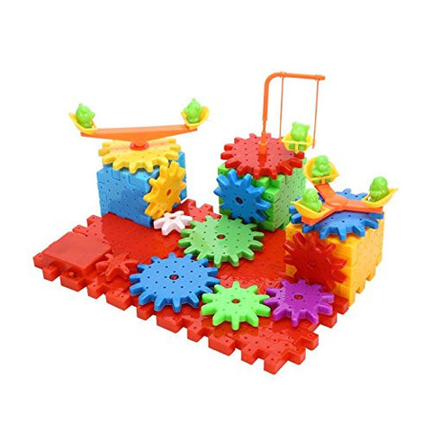 Automatic Spinning Gear Blocks Building Toy Set DIY Christmas 81 Pieces
