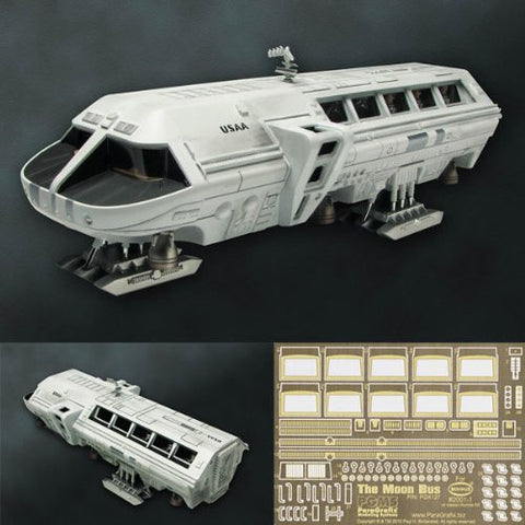 1/55 Scale The Moon Bus & Detail-Up Etching Parts Set Construction Kit