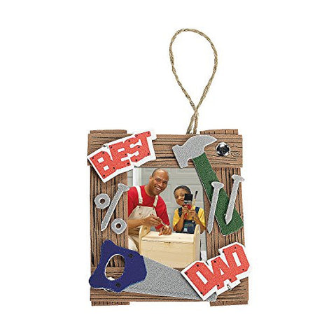 """Dad"" Tool Picture Frame Ornament Craft Kit"