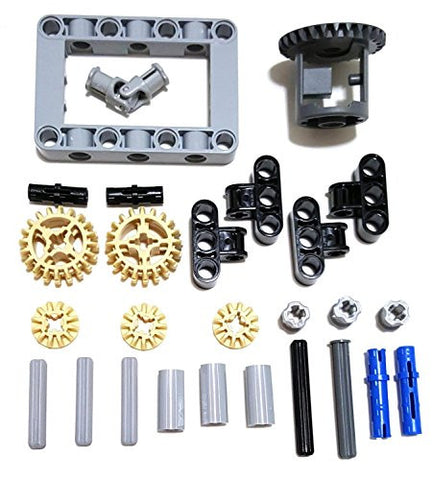 27 Pieces, Differential Gears, Pins, Axles & Connectors Box Kit