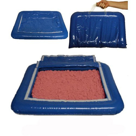5 lbs of Red Shape-It Sand & Inflatable Sand Tray