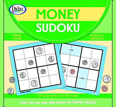 Didax 088433 Money Sudoku Game