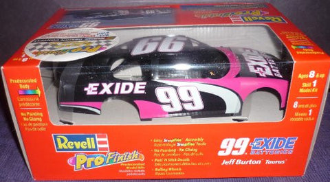 #1314 Revell Pro Finish Snap Tite Jeff Burton#99 Exide Taurus 1/24 Scale Plastic Model Kit