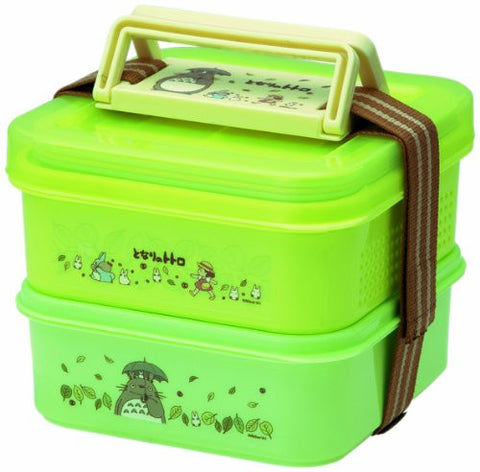 (4 pieces of belt plate bird) My Neighbor Totoro Studio Ghibli (clover) picnic lunch box stage 2 (japan import) by SKATER