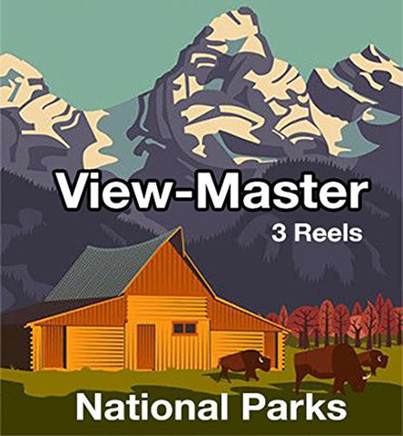 3 ViewMaster Classic Vintage 3D Reels - Colorado - Rocky Mountain Nat'l Park, Berthoud Pass, Highway 40.
