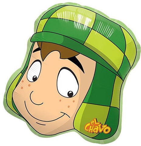 "1 Balloon New 33"" XXL El Chavo Del Ocho Head Shape Party Favors Foil Mylar"