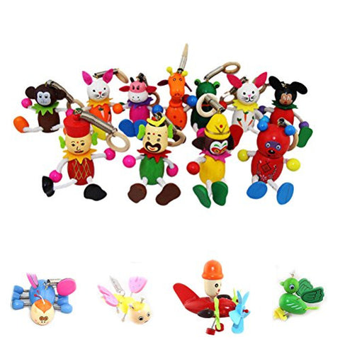 1 Pcs Wooden Jumping Puppets Cartoon Figure Kid Toys Spring Dolls for Children,Style Random By Team-Management