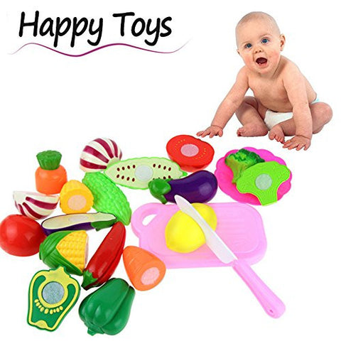 13pcs Kid Educational Toy,Buedvo Cutting Fruit Vegetable Pretend Children Play Model