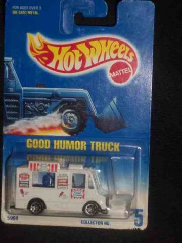 #005 Good Humor Truck White Large window 7-spoke Wheels Collectible Collector Car Mattel Hot Wheels 1:64 Scale