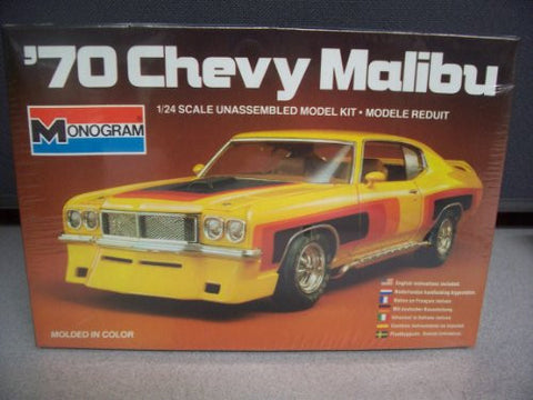 #2284 Monogram '70 Chevy Malibu 1/24 Plastic Model Kit,Needs Assembly