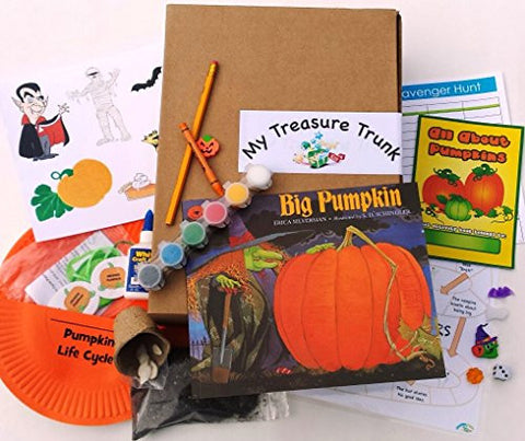 """Big Pumpkin"" Activities for Kids Halloween Kindergarten Preschool Book Reading Arts & Crafts Theater Recycling Social Explore Discover Cook"