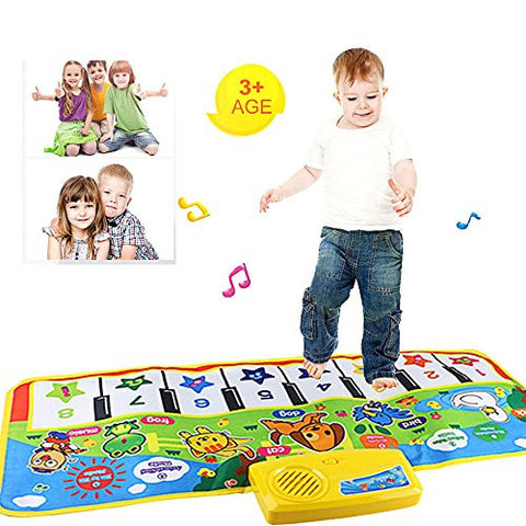Christmas Gift Toy,Music Singing Gym Carpet Mat,Buedvo New Touch Play Keyboard