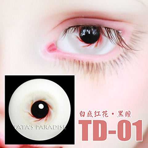 1 Pair of Eyes Eyeballs Round Doll Accessories Doll Eyeballs 14mm 16mm TD-01