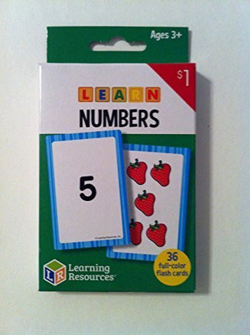 """Learning Resources - Learn Numbers Flash Cards"" Ages 3+ (36) full-color cards"
