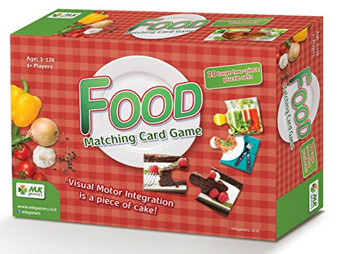"""Food""- Matching Card Game. Educational Game that Promotes Cognitive & Fine Motor Skills and Helps Stimulate Conversation about Healthy Nutrition"