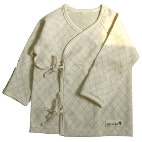 100% Organic Cotton Newborn Long Sleeve Side Snap Shirt Check Style by Shirt