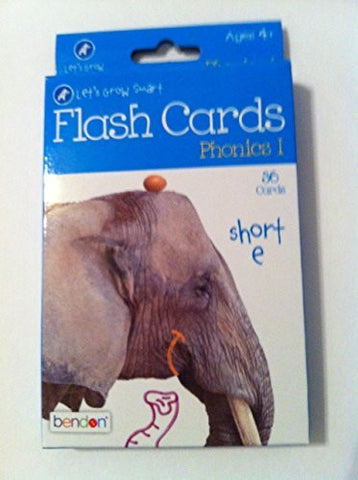 """A+ Let's Grow Smart - Phonics I - Flash Cards"" 36 Cards Ages 4+"